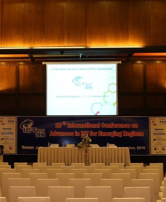 16th International Conference of Advances in ICT for Emerging Regions