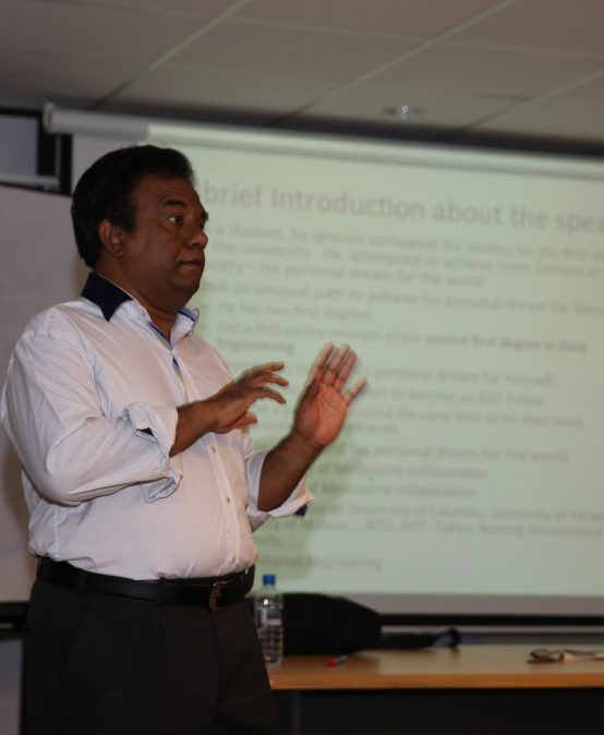 "Seminar on ""Research under constraints: Some common tricks in the game"" by Prof. Saman Halgamuge"